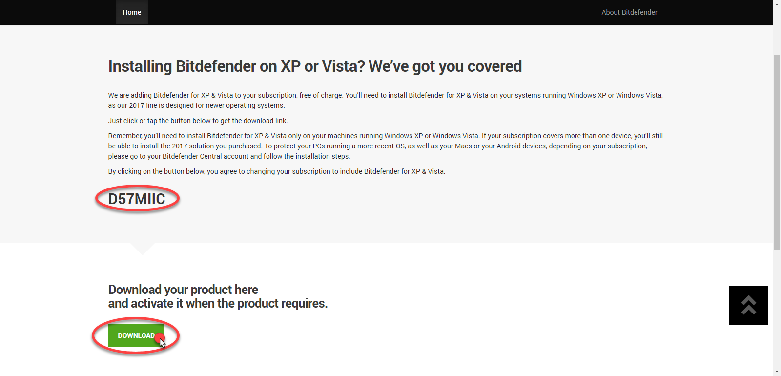 How to install Bitdefender on Windows XP and Windows Vista?