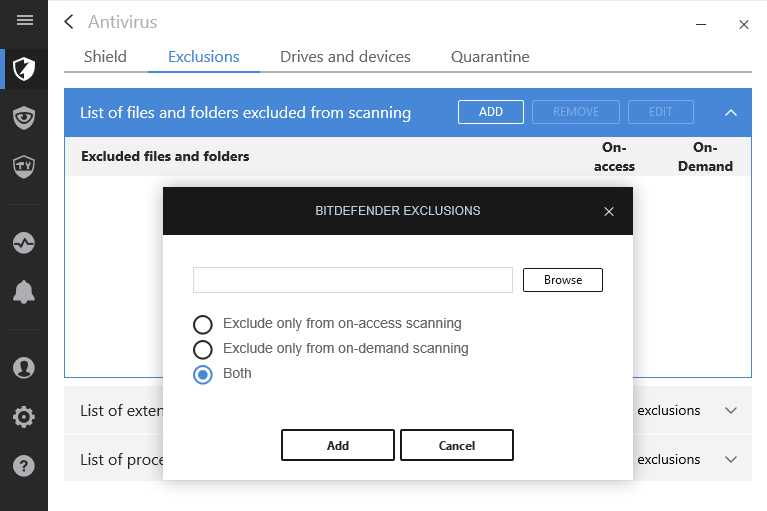 how to remove quarantined files from bitdefender