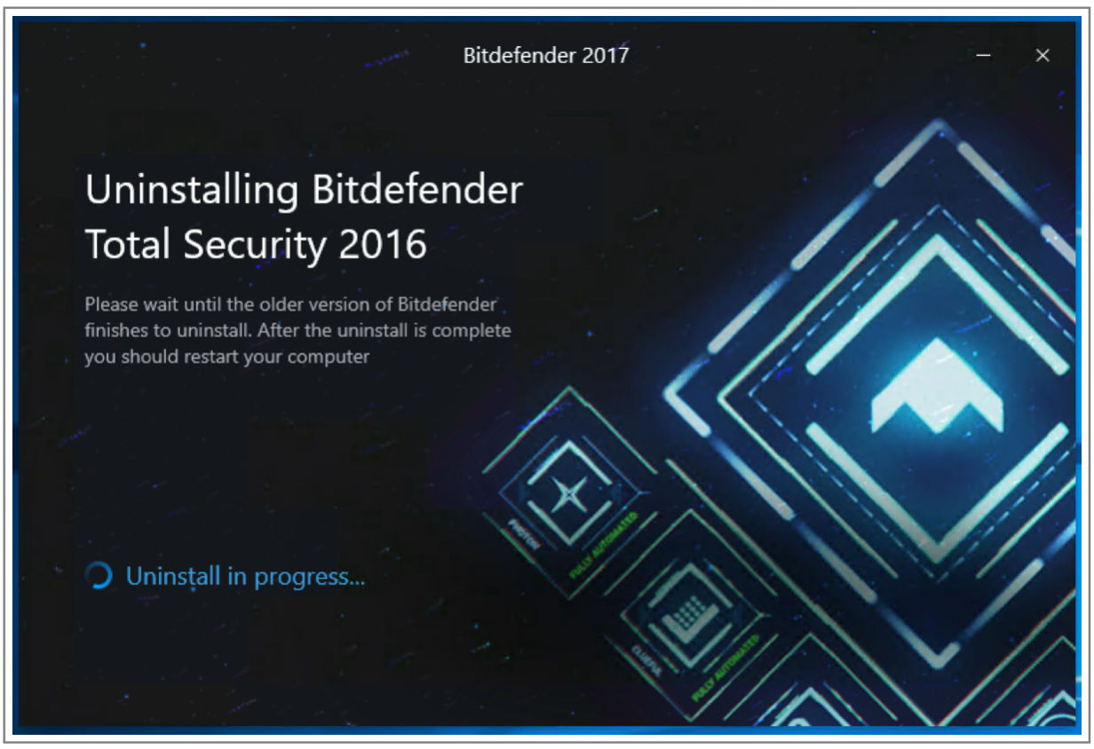 Upgrading to Bitdefender 2017 on my computer