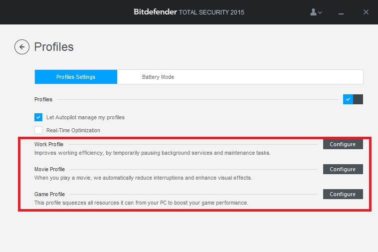 What are the Bitdefender profiles and how do they work?