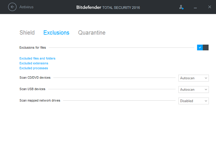quarantined files bitdefender