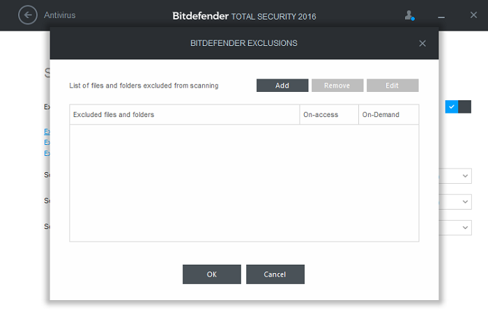 How to add exclusions (exceptions) in Bitdefender 2016