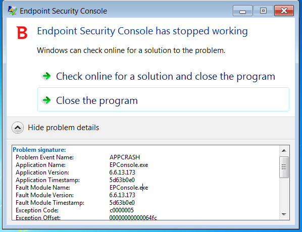How to troubleshoot BEST services no longer running on Windows 7