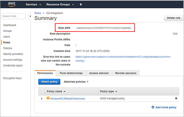 How to set up the GravityZone integration with Amazon EC2 using a