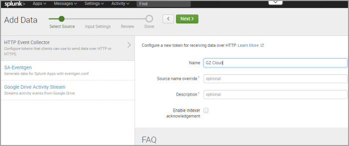 How to integrate GravityZone with Splunk
