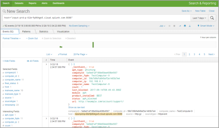 How to create reports based on data from GravityZone in Splunk