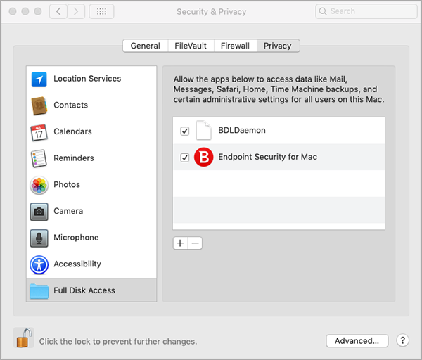 How to Allow Full Disk Access to Bitdefender Endpoint Security for