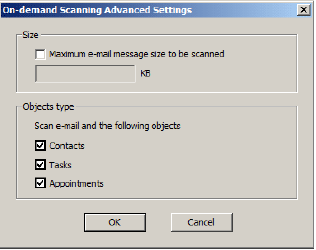On-demand Scanning Advanced Settings