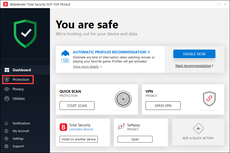 97668e1377cd0 How to configure a custom scan with Bitdefender