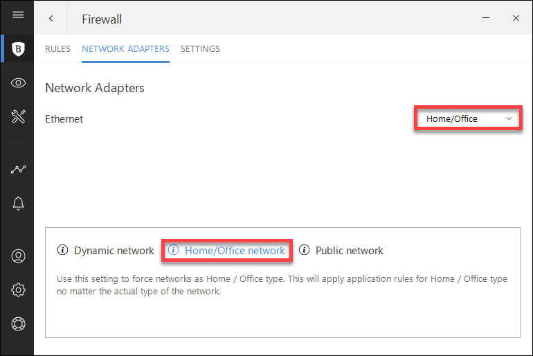 I can't access a device on my network: adding a network exception in