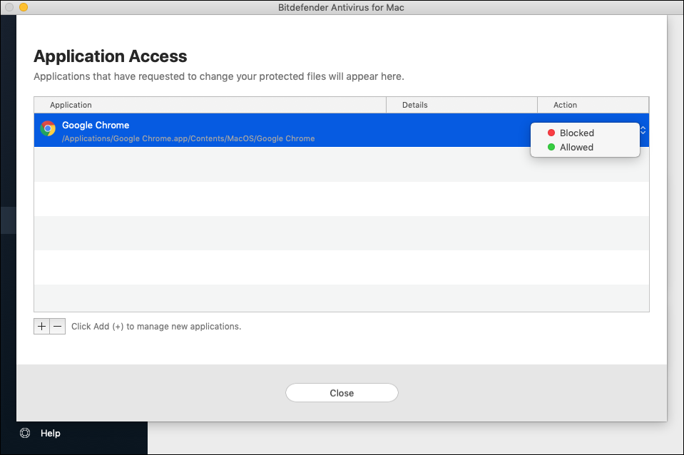 Safe Files in Bitdefender Antivirus for Mac