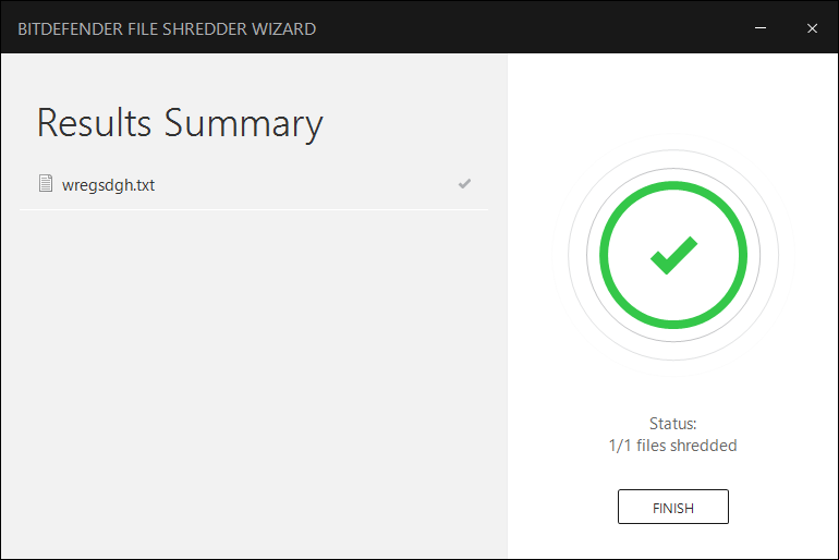 How to delete a file permanently using Bitdefender