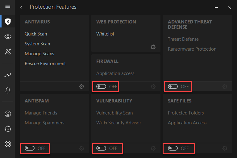How to disable all modules in Bitdefender 2018 - Bitdefender