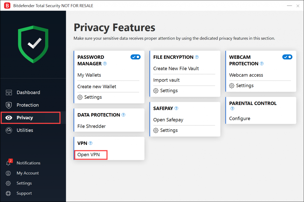 Troubleshooting Bitdefender VPN errors
