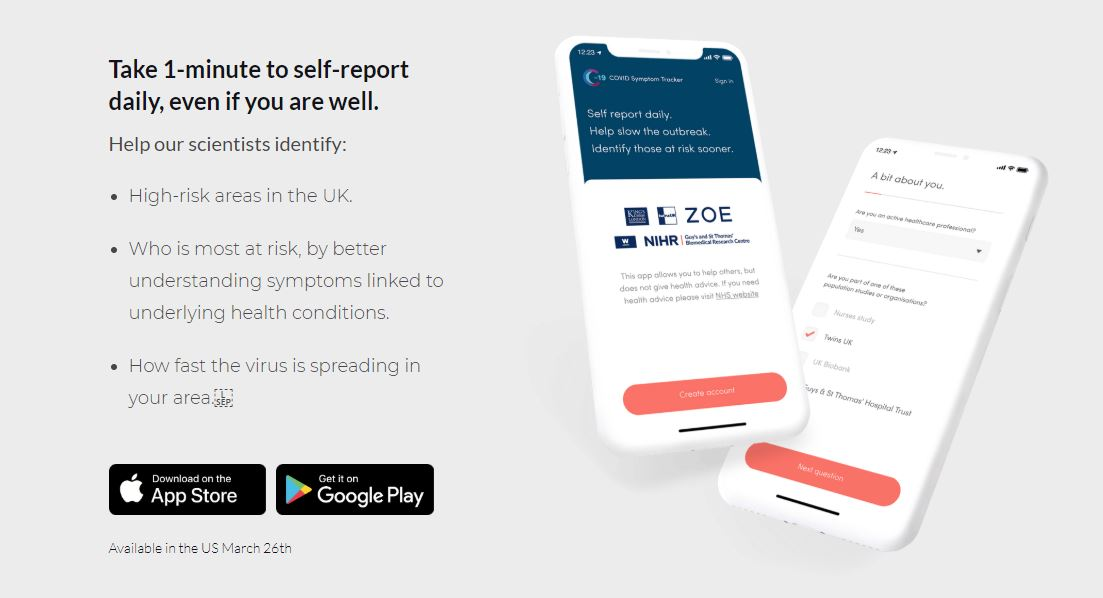 Mobile App in UK Uses Crowdsourcing to Track Coronavirus Infection Rates
